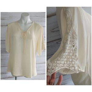 Boho Crochet Sleeve Blouse.